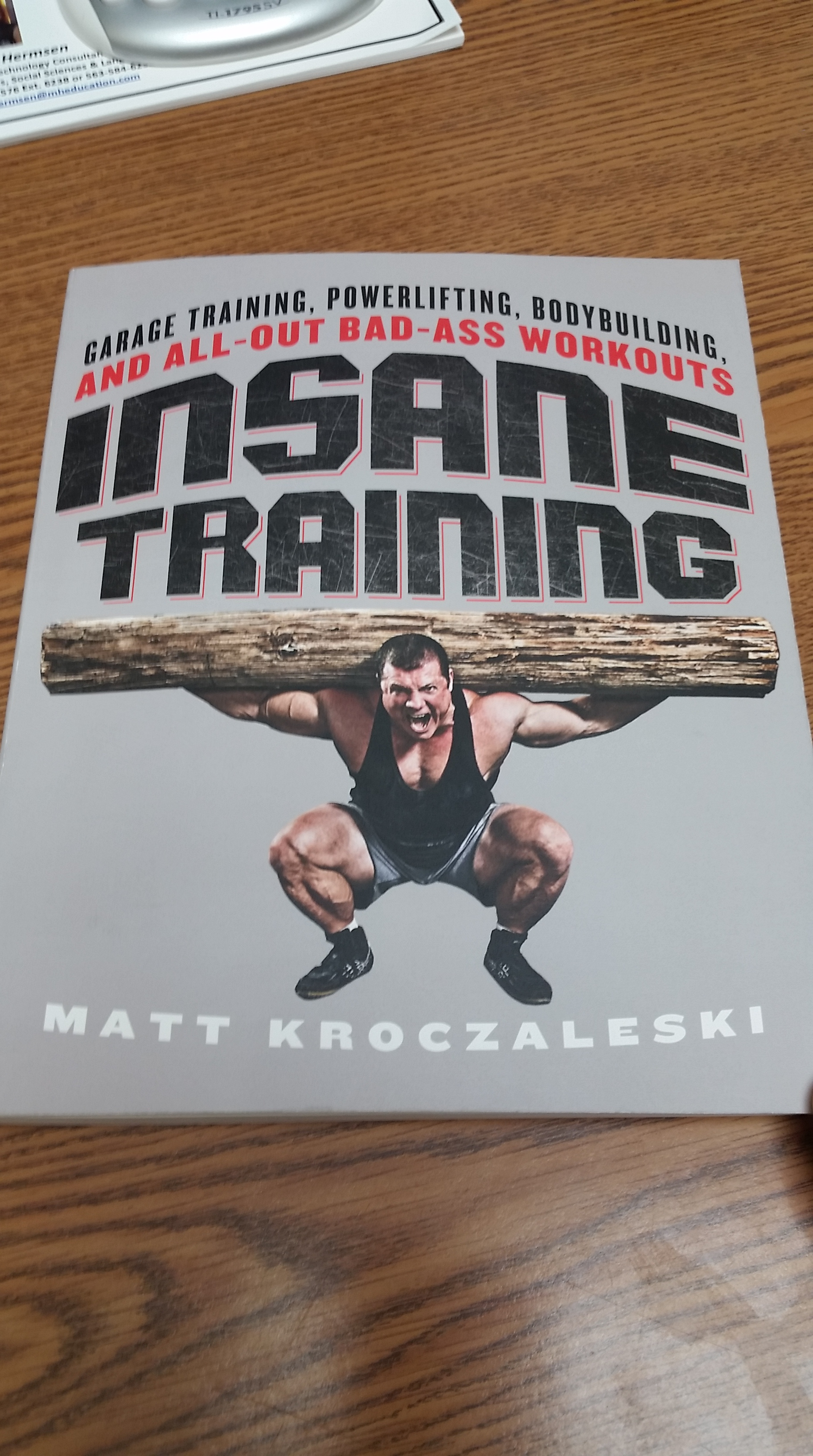 Book review insane training garage